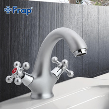Frap Matte surface Basin faucet Dual Handle Vessel Sink Mixer Tap Hot and cold separation switch F1019-1(China)