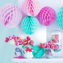 5pcs Big Size 35cm (14 inch) Tissue Paper Flower ball Honeycomb Lantern Wedding decoration Holiday supply Pink Blue White Party