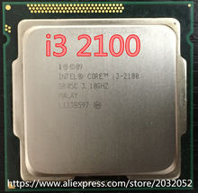 Intel Core i3 2100 Processor 3.1GHz /3MB Cache/Dual Core /Socket 1155 / Qual Core /Desktop (working 100% Free Shipping)(China)