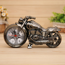 2 Color Motorcycle Model Automobile Clock for Car Decoration Car Clock Car-styling Home Office Ornament Auto Watch Accessories(China)