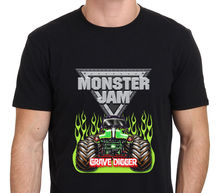 2017 New Casual Monster Jam Grave Digger Monster Truck Design Men's 100% Cotton T Shirt High Quality O-Neck Short Sleeve Tees(China)