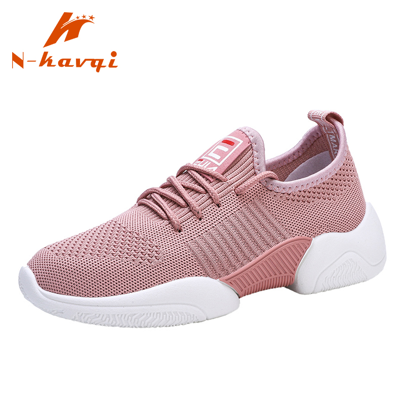 NKAVQI New Arrive Sneakers Women Air Mesh Breathable Fashion Flats Female Comfortable Casual Shoes Women Zapatos De Mujer(China)