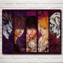 Death Note Japanese Anime Yagami Light L Ryuk Silk Fabric Poster 12x16 18x24 inches Home Decorative Painting Free Shipping(China)