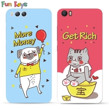 Fun Kays Cartoon Ingots Cat Balloon Dog Couple Lovers Letter Get Rich More Money MI 5 6 Note 2 3 4 4X 6 7 Slim Soft Phone Case(China)