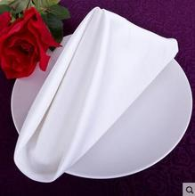 100% Fabric White Table Napkin Square 4PCS A LOT With Free Shipping For Hotel Home Use(China)