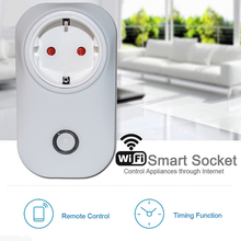 Hot sale Wireless WiFi Smart Socket Home Outlet Remote Control Power with Amazon Alexa Timing Switch Smartphone via APP UK/EU/US