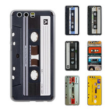 vintage Magnetic tape Cassette audio tape Style Thin transparent phone Cover Case for Huawei P10 P10lite P8 P9 lite Mate8 Mate9