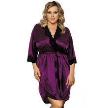 Buy Free shipping sexy plus size body lingerie hot porn XXXL bathrobe erotic peignoir babydoll transparent dresses sexy lace product