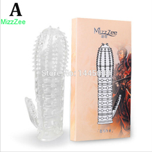 Buy MizzZee 1PC Time Delay Crystal Penis Rings Reusable Condom Penis Sleeves Penis Extender Cock Rings Sex Toys Men gay 5 stypes