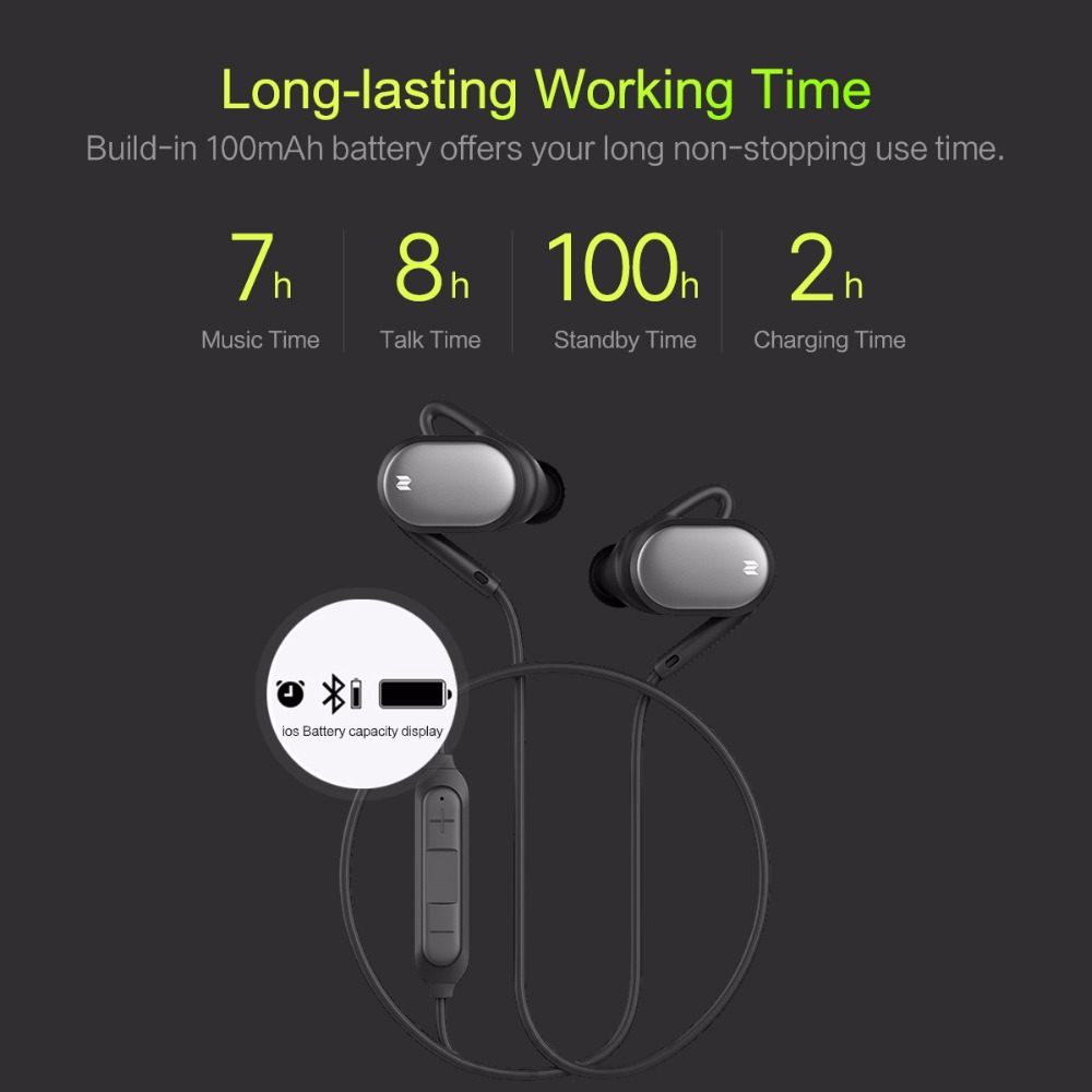 ROCKSPACE Sports Bluetooth Earphone Mutto Magnetic Wireless Earbuds w/ Volume Control & Mic Sweatproof Earphones for iPhone 6S
