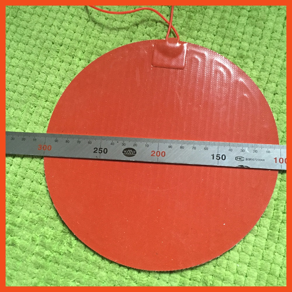 Silicone heating pad heater 220V 125W dia 200mm for 3d printer circular heat bed flexible heater element heater plate<br>