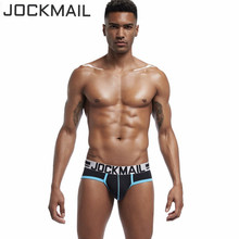 Buy JOCKMAIL sexy men underwear U convex pouch slip cueca male panties Mens gay cotton briefs men's underpant man brand men shorts