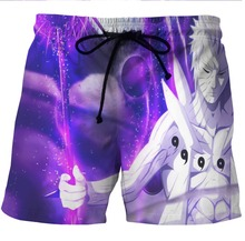 LOVE SPARK Fast Dry Cartoon Prince Print Boys Sport Shorts S To 6xL Digital Print Purple Running Shorts For Men Plus Size(China)