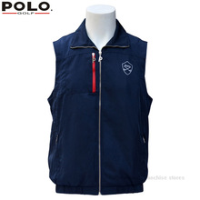 Brand POLO Golf Men Spring winter warm vest Plus thick velvet golf jacket for men waistcoat windbreaker vest breathable apparel(China)