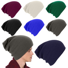 New Fashion Sport Warm Keeper Cap Men Ladies Knitted Woolly Winter Oversized Slouch Beanie Hat Cap Skateboard  LB