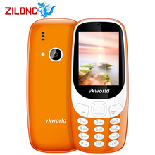 Original Vkworld Z3310 3D Screen 2.4 Inch Mobile Phone Loud Speaker FM Radio Strong LED Light 2MP Camera Dual Sim Card Cellphone(China)