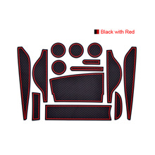 Rubber Doors Slot Cup Holder Anti Dust Non-Slip Pad Mats For BMW Mini R60