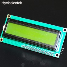 1602 Yellow-green Backlight LCD Display For Arduino 16x2 HD44780 Character LCD IIC I2C W/Serial Interface Adapter Board UNO Nano(China)