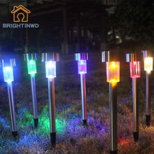 BRIGHTINWD Garden Led Solar Light Outdoor lighting 6v 10pcs Lampara Solar Lights IP44 Waterproof Lamp for garden decoration