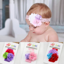 1 Piece 2016 lace Flower elastic Headband infant Baby Hair Accessories Children toddler Head bands(China)