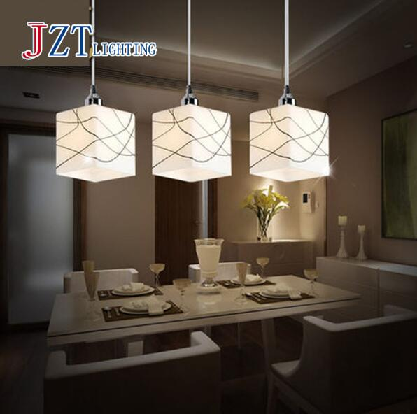 T Modern Simple Pendant Light With LED Bulbs E27 9W For Restaurant Creative Porch Light Comfortable 3 heads Best Price<br>