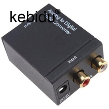 Kebidu Analog to Digital ADC Converter Optical Coax RCA Toslink Audio Sound Adapter SPDIF Adaptor for TV for Xbox 360 DVD