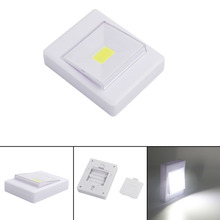 COB LED Magnetic Wall Night Lights Camping Lamp 4*AAA Battery Operated with Switch Magic Tape for Indoor Garage Closet(China)