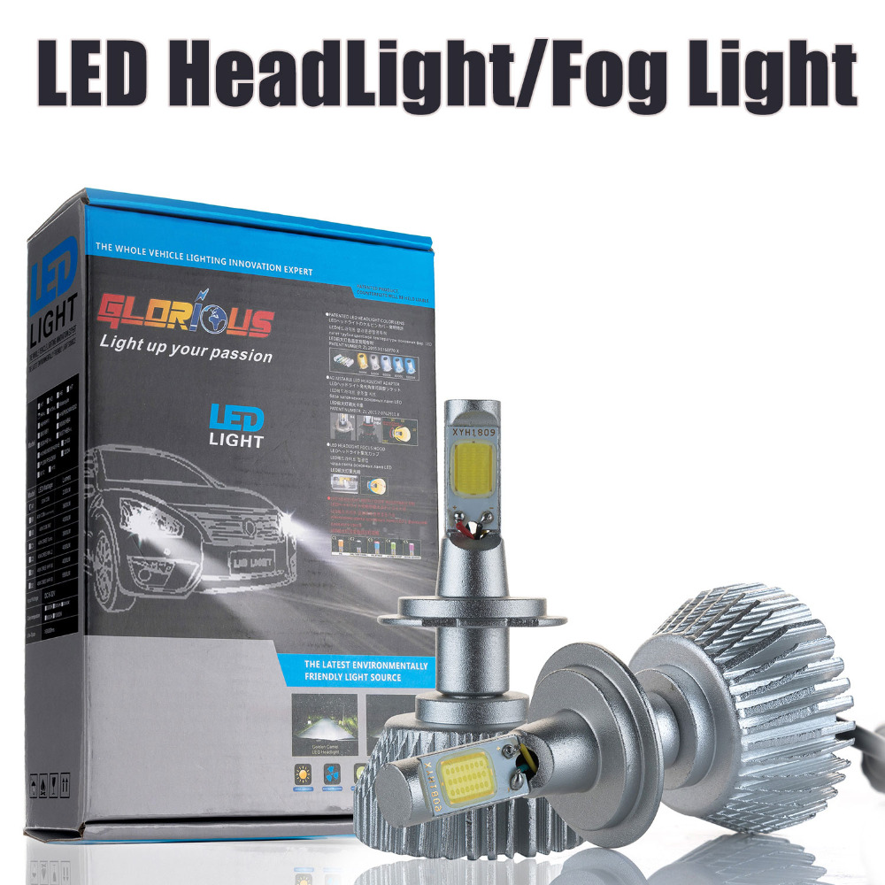 2pcs H11 LED headlight  H8 H9 32W 2200LM 6000K for  car Automotive Headlight and Fog lamp<br><br>Aliexpress