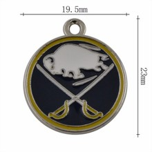 DOUBLE NOSE Factory Directly Selling American Hockey Buffalo Sabres Logo Charms & Pendants DIY Fan Jewelry Making(China)