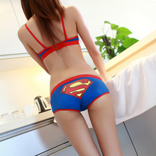 Free Shipping Women Cute Cartoon Underwear Soft Cotton Briefs Comfortable Panties Sexy Tangas Bragas Women's cartoon Underpants(China)