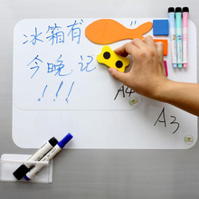 "A3 297mm*420mm Magnetic Dry Erase White Board 17"" x 11"" For Fridge Refrigerator Message Board with free Pen & Eraser"