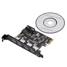 STW-3004 High Speed 5Gbps PCI-E to USB 3.0 4-Port PCI Express Expansion Card Adapter with CD Driver for Descktops Computer(China)