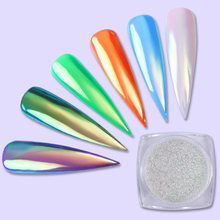 1 Box 0.2g Neon Unicorn Mirror Powder Nail Art Ultra-thin Mermaid Chrome Pigment DIY Nail Glitter Dust