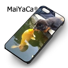 MaiYaCa Rottweiler dog kiss the fish fashion soft mobile cell Phone Case Cover For iPhone 6 6S Custom DIY cases luxury shell(China)