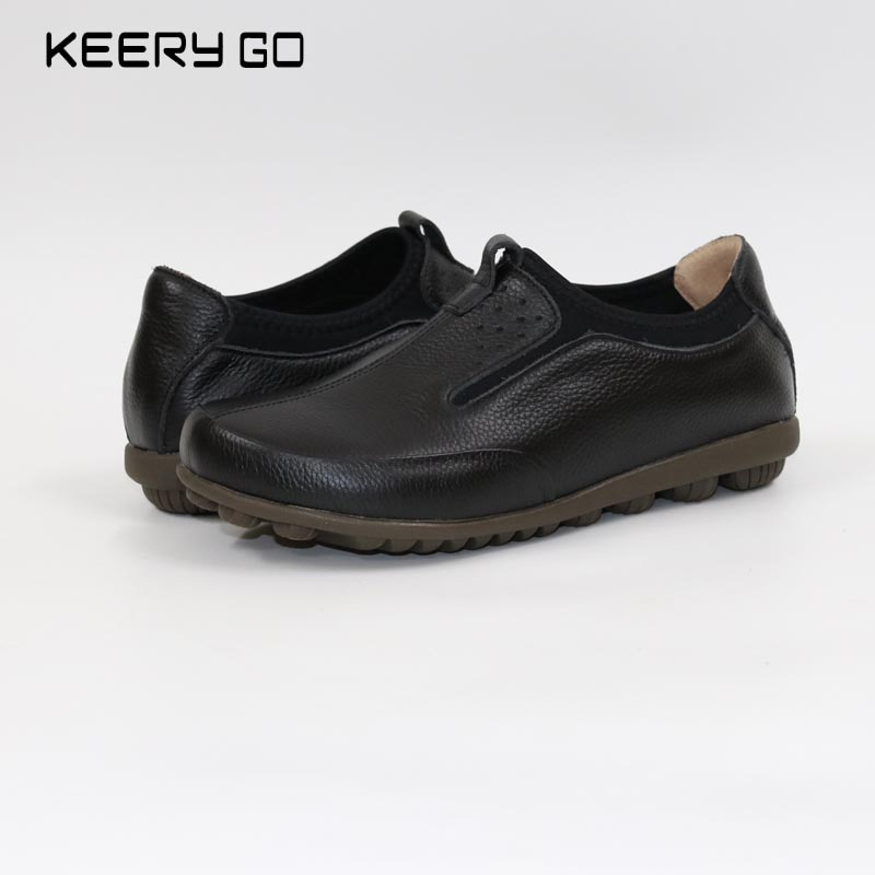 17 years of the new leather shoes and special offer full leather soft and comfortable leisure flat shoes Womens Shoes  Mom shoe<br>