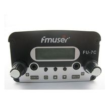 FU-7c 7w transmitter  broadcast fm radio and 1/4 wave GP fm antenna  with Power adapter   A kit  FREE Shipping