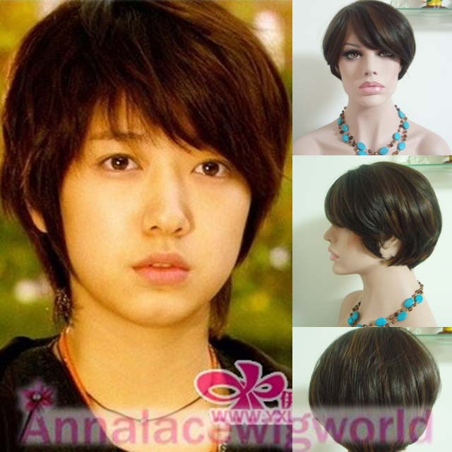 FREE SHIPPING  brown synthetic heavy density lace front wig<br><br>Aliexpress
