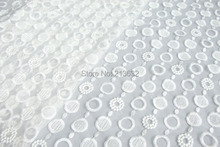 POp109-79 textile Eugen yarn white cotton full cloth cotton fabric computer embroidery factory processing tulle yarn linen(China)