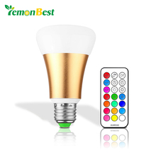 Brightness Led Lights for Home LED Bulb RGB 10W E27 Stage Lamp 12 Colors with Remote Control AC 85-265V RGB + Cool White Golden(China)