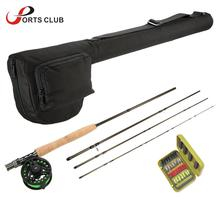 Lixada Lightweight Portable Fishing Rod Reel Combo Kit Set Fishing Starter Package 4-Piece Fly Fishing Rod Pole with Rod Case(China)