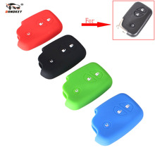 DANDKEY 10pcs/lot 3 Buttons High Grade Silicone Cover 4 Colors Remote Key Fob Case Shell For Lexus 250 GX460 Key Case With Logo