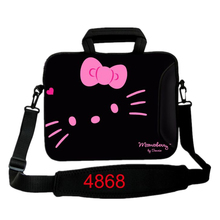 kitty print universal neoprene notebook laptop sleeve 10 11.6 13.3 14 15.5 17 laptop shoulder bag PC handbag For Ipad Asus Acer