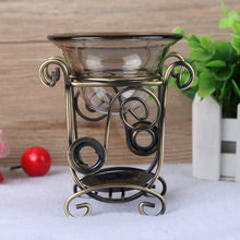 Iron Aromatherapy Incense Burner Big Volume Candle Aromatherapy Lamp Antique Essential Oil Heater Large Holder Aroma Furnace(China)