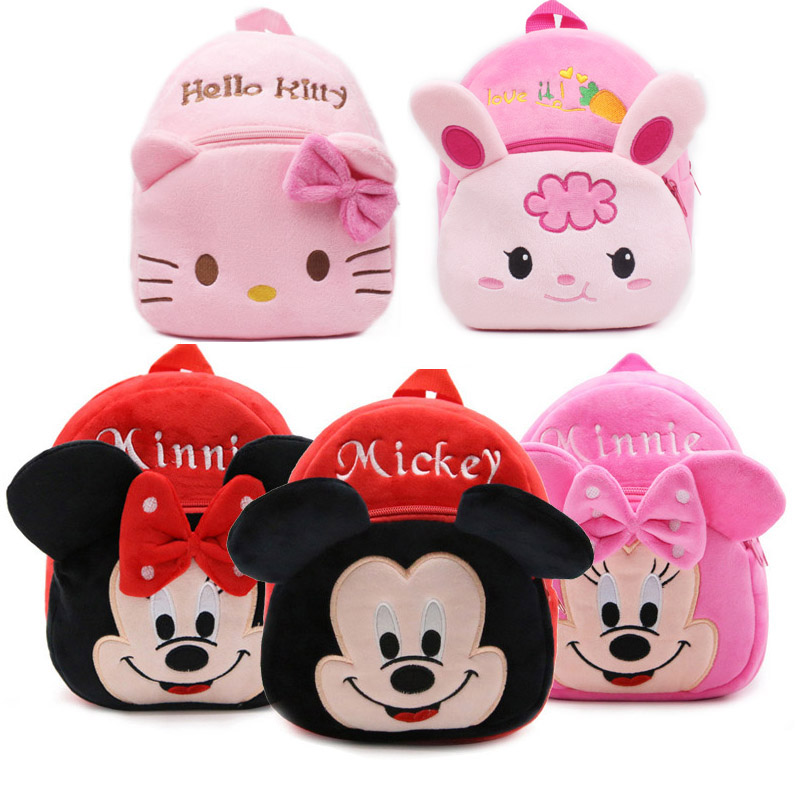 2016 High Quality Rose Red Hello Kitty Plush Bags To Dos for Cartoon Character