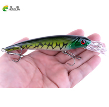 HENGJIA 1Pcs 16.5CM 29.1G Big Float Minnow Artificial Plastic Deep Diver Hard Lures Fishing Lure Crankbait with 2 Treble Hooks