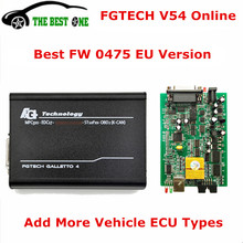 Online EU Version 0475 Fgtech Galletto 4 Master V54 Support BDM-Tricore-Boot-OBD FG Tech FW 0475 Car Truck ECU Chip Tuning tool(China)