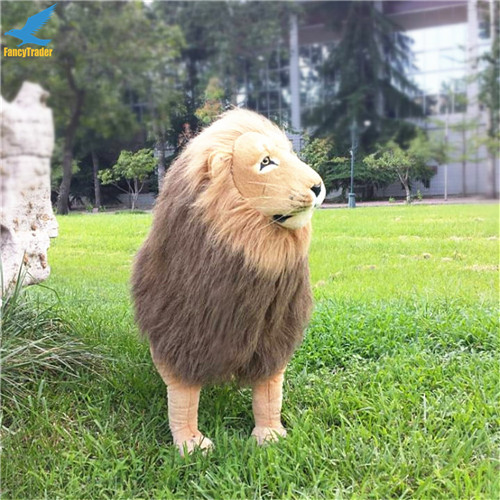 Fancytrader 43\'\' Giant Plush Stuffed Simulation Lifelike Lion King Simba Can be Rided by Kids Great Gift FT90284 (12)