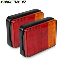 Onever 2PCS/lot DC 12V 30 LED Taillight Truck Car Van Lamp Tail Trailer Light E-Marked 120mm*90mm