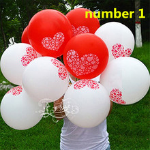 20Pcs 12 inch Pink/Purple/Red/White  Balloons Love Heart Latex Balloons Birthday/New Year/ Party Wedding Decoration Balloons