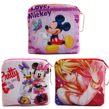 2018 New Cartoon Mouse Change Purses Women Mini Coin Bags Kids Character Plush Wallets Female Money Pockets(China)
